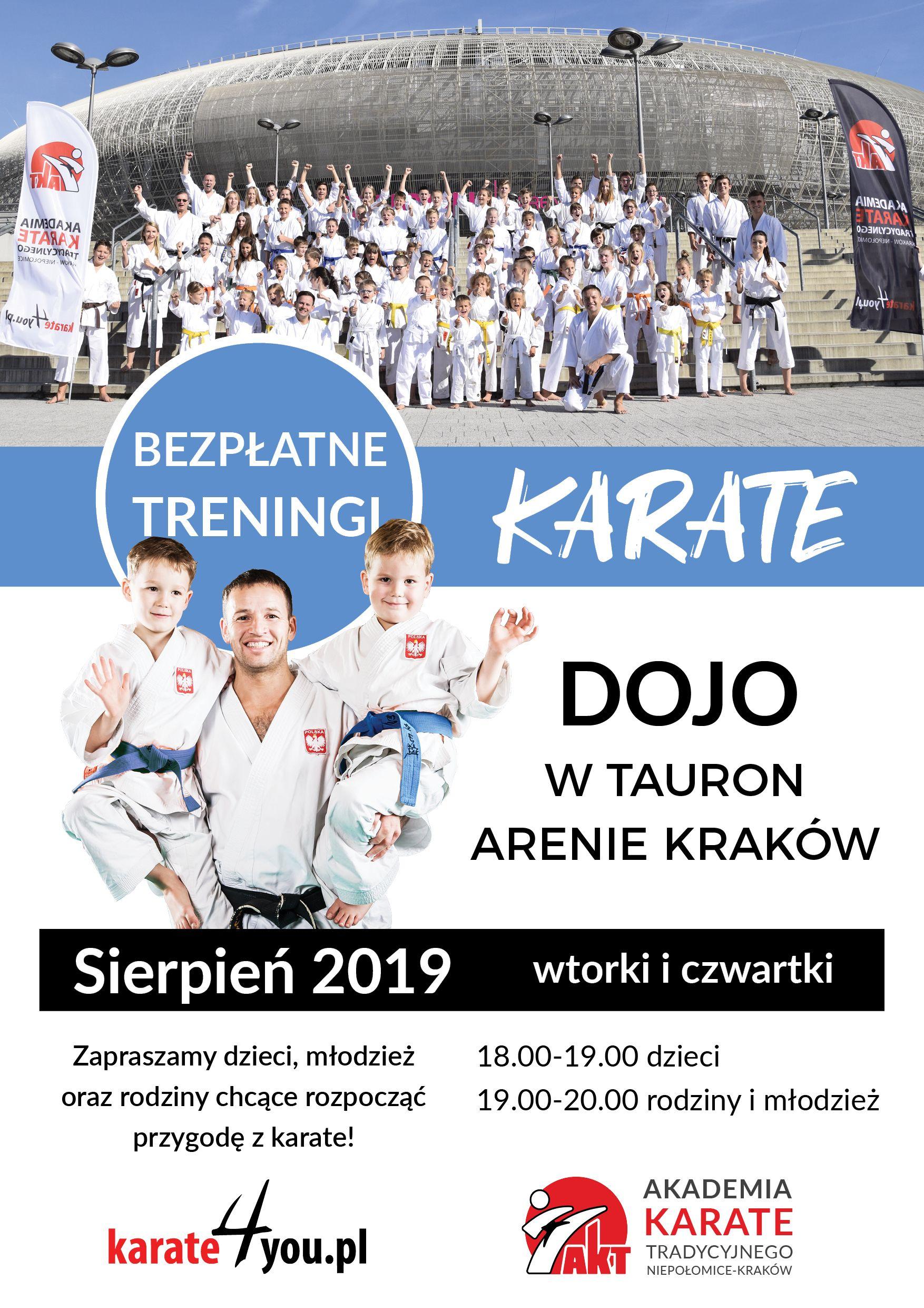 Bezpłatne treningi karate w Tauron Arenie Kraków