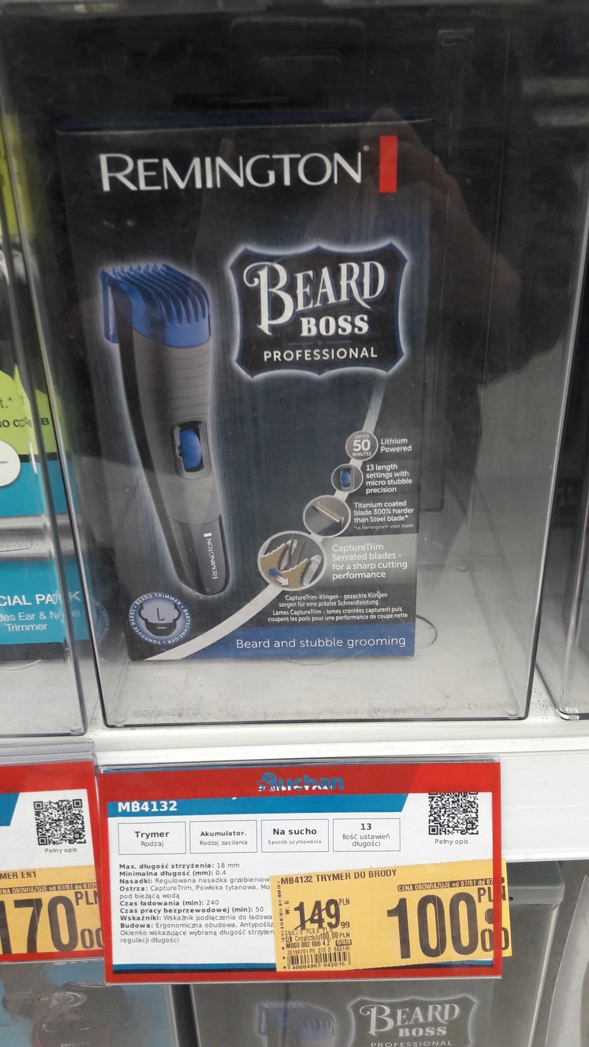 Trymer Remington Beard Boss Professional Auchan Dąbrowa Górnicza