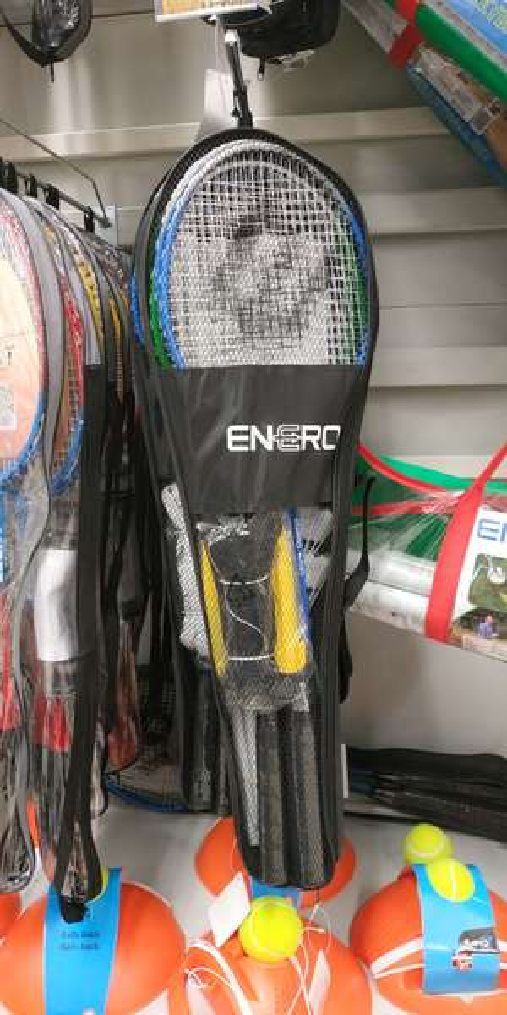 Zestaw do badmintona (4 rakietki, siatka i 2 lotki)