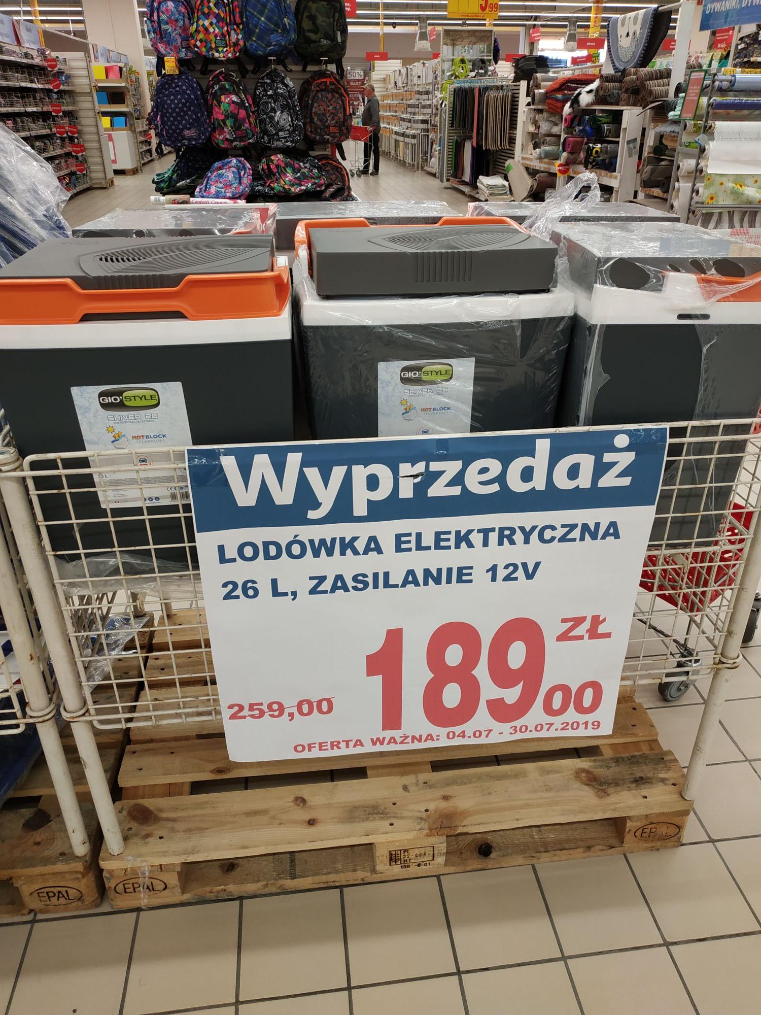 Lodówka turystyczna 26 Litrów 12V Auchan