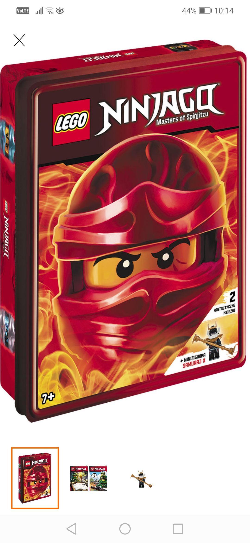 Lego Ninjago 2 książki + figurka w pudełku