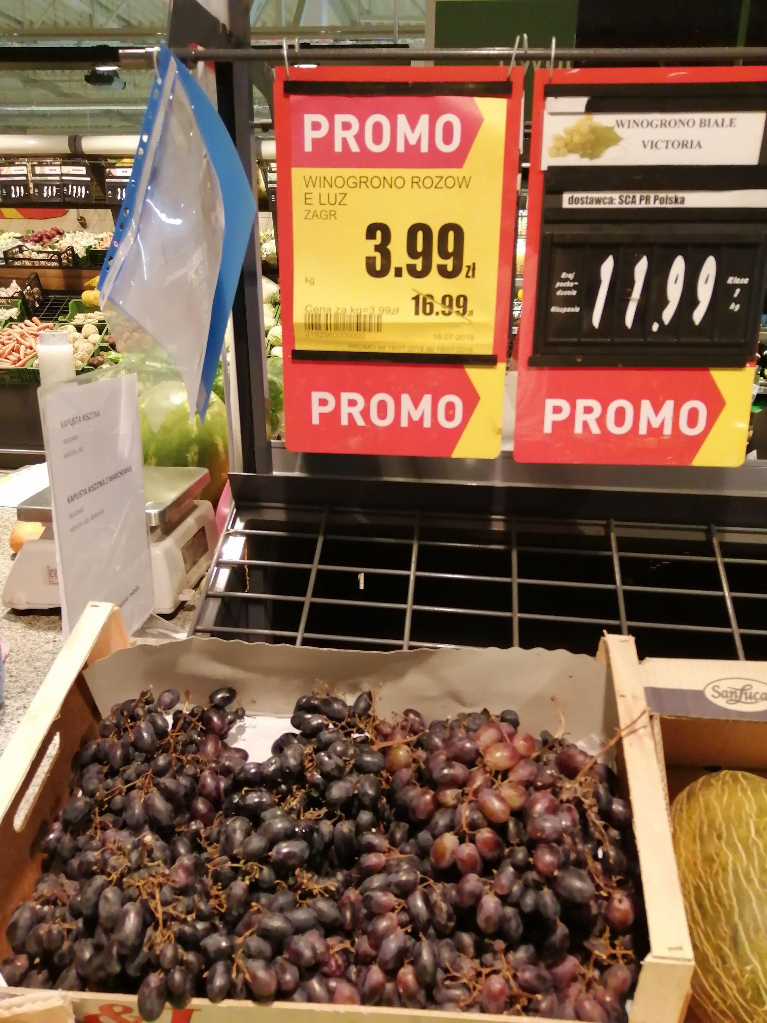 Winogrona czerwone 3,99 Intermarche Wodzisław