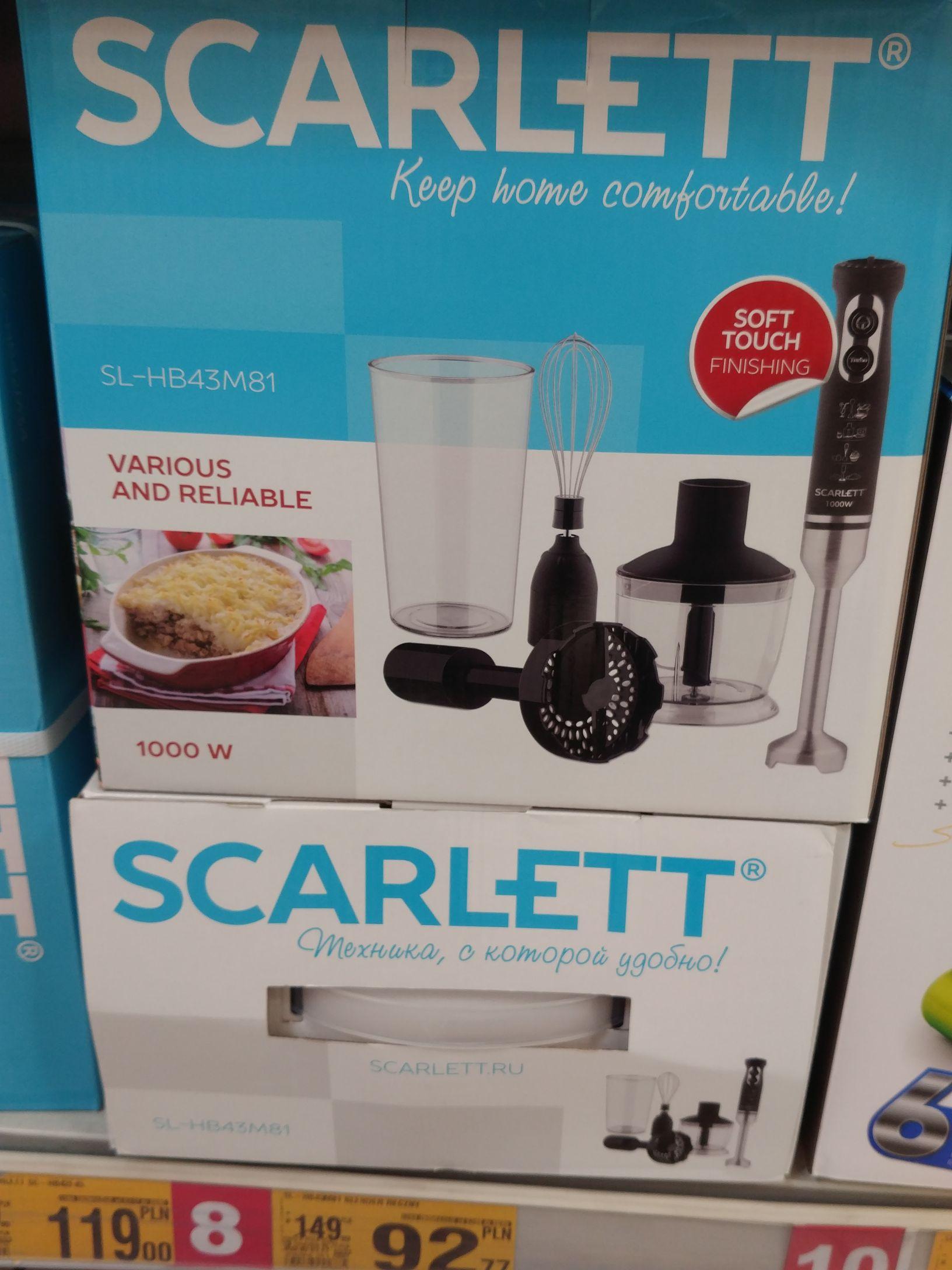 Blender Scarlett 1000W Auchan