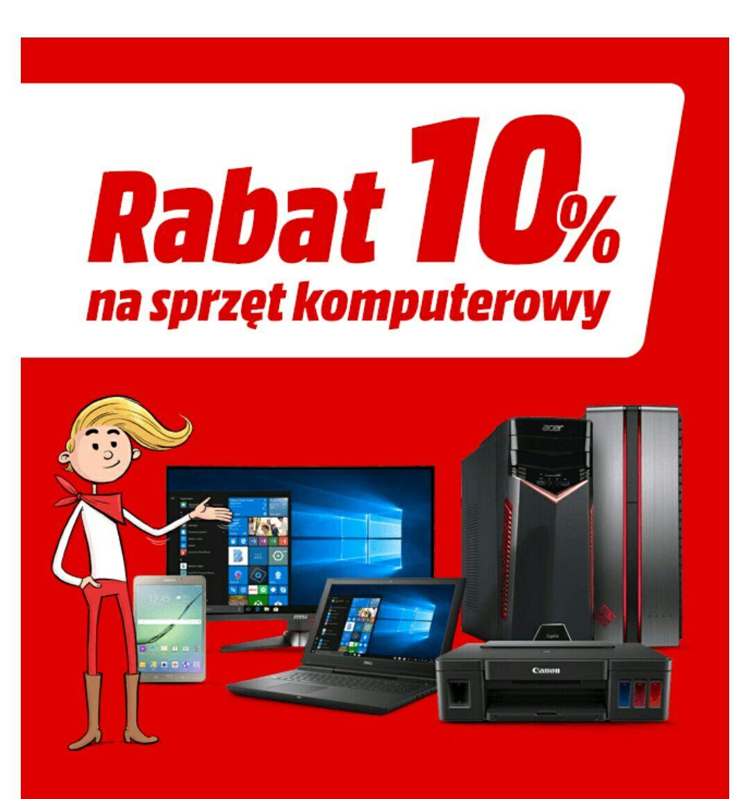 Rabat 10% na sprzęt komputerowy  + Raty 0 % od 1800 zł