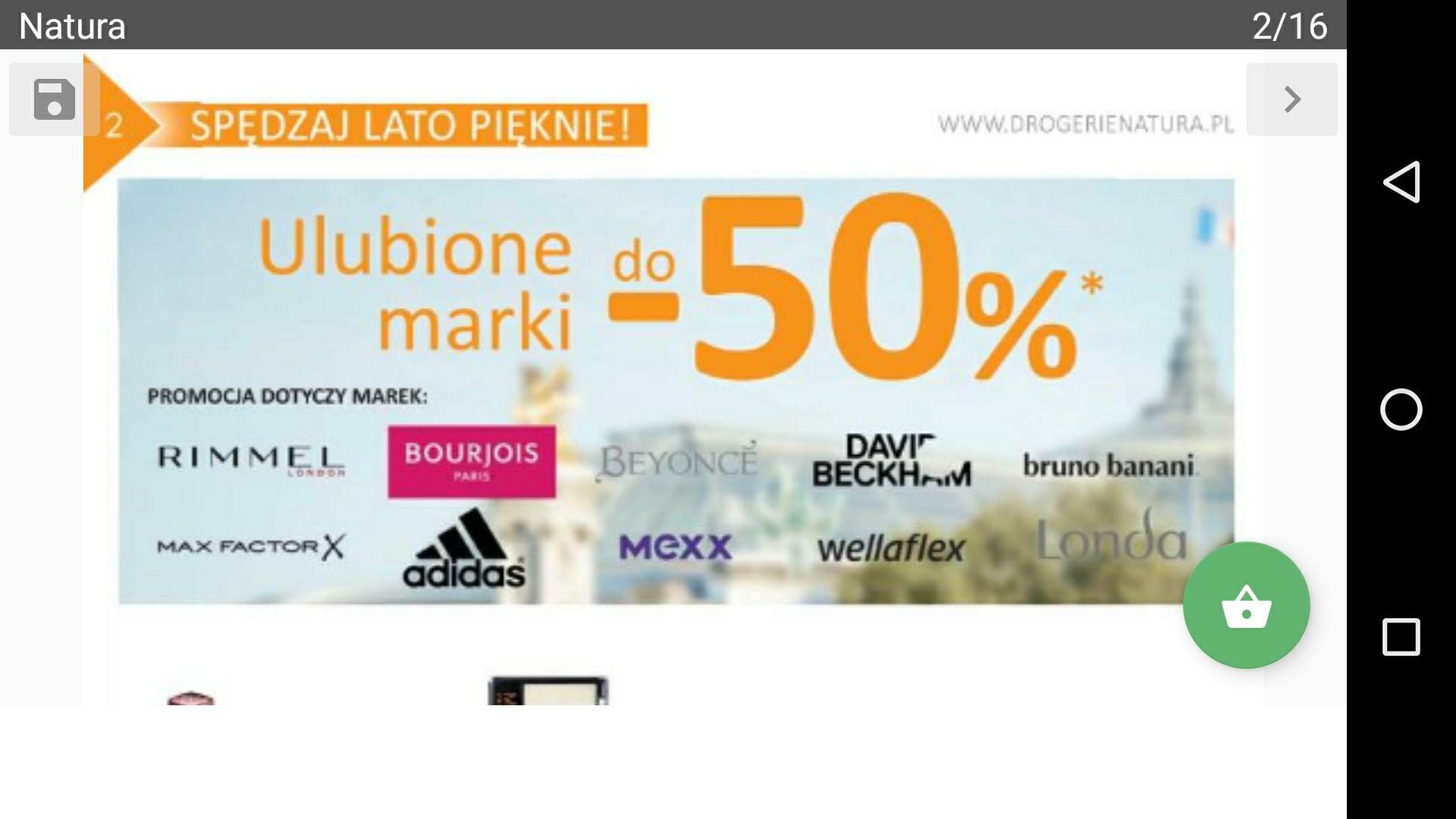 Drogeria natura do -50% na ulubione marki