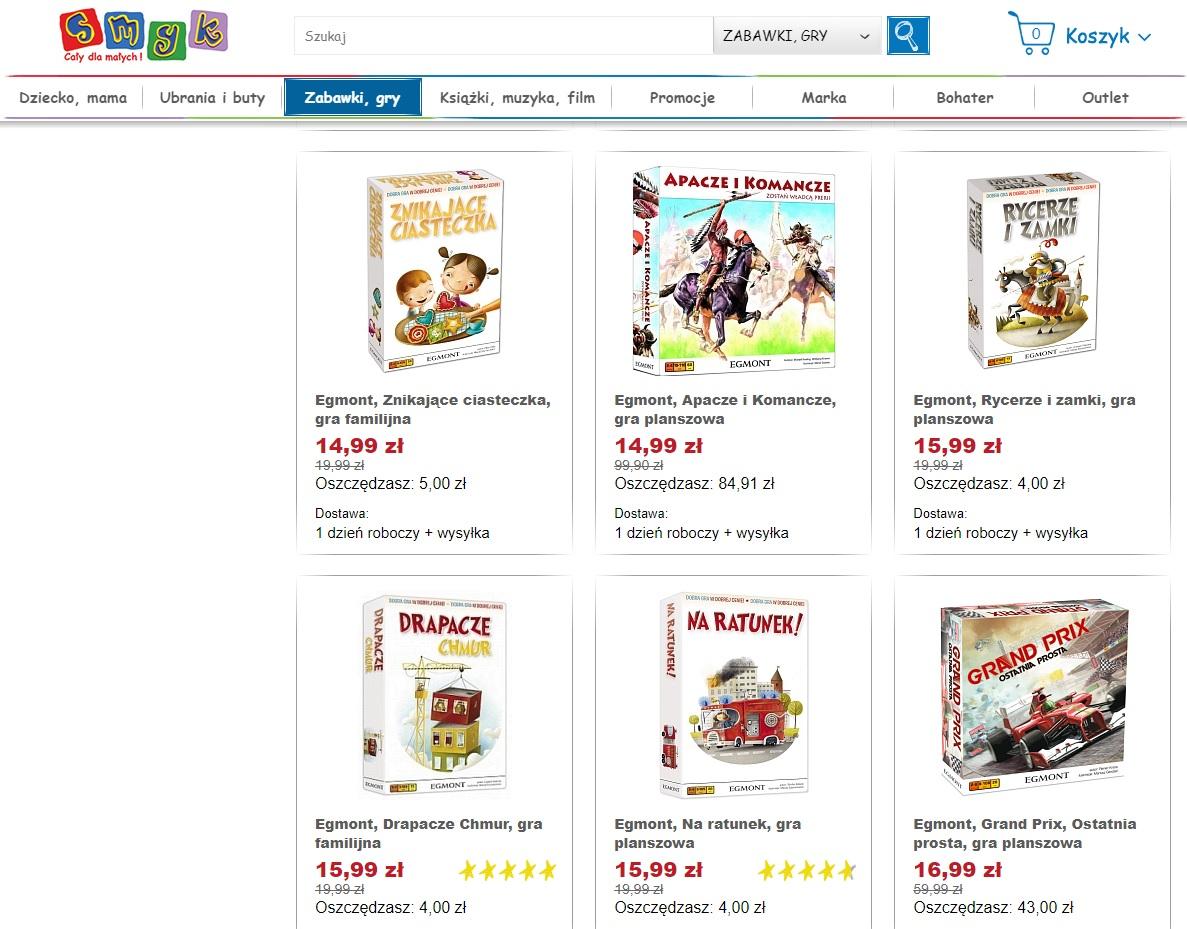 Planszówki EGMONT w sklepie online SMYK