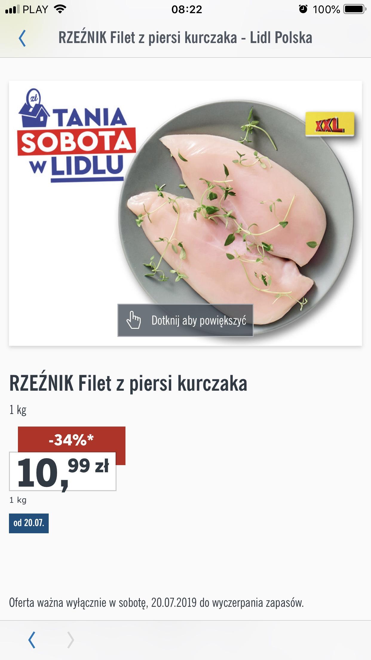 Filet z kurczaka w lidlu 10,99 zł za kg