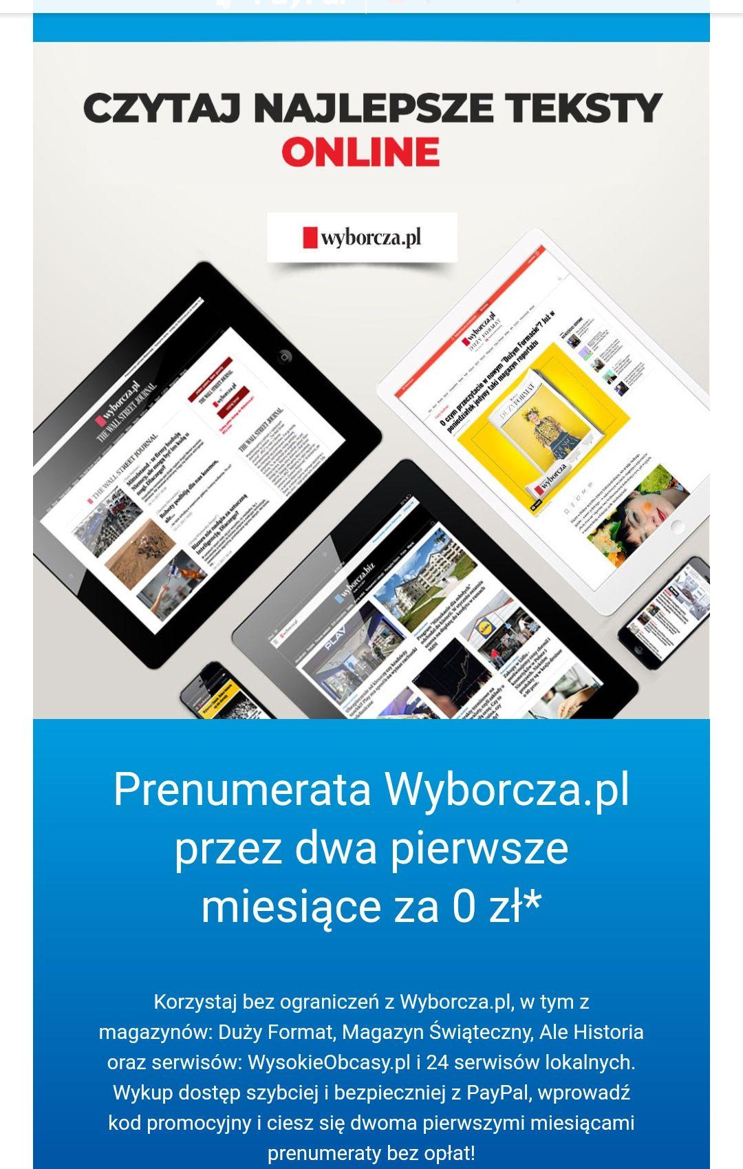 PayPal i dwa miesiące darmowej prenumeraty