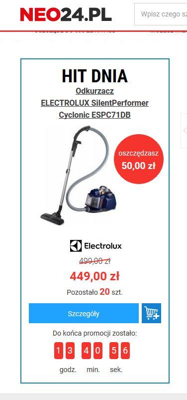 ( HIT DNIA ) Odkurzacz ELECTROLUX SilentPerformer Cyclonic ESPC71DB