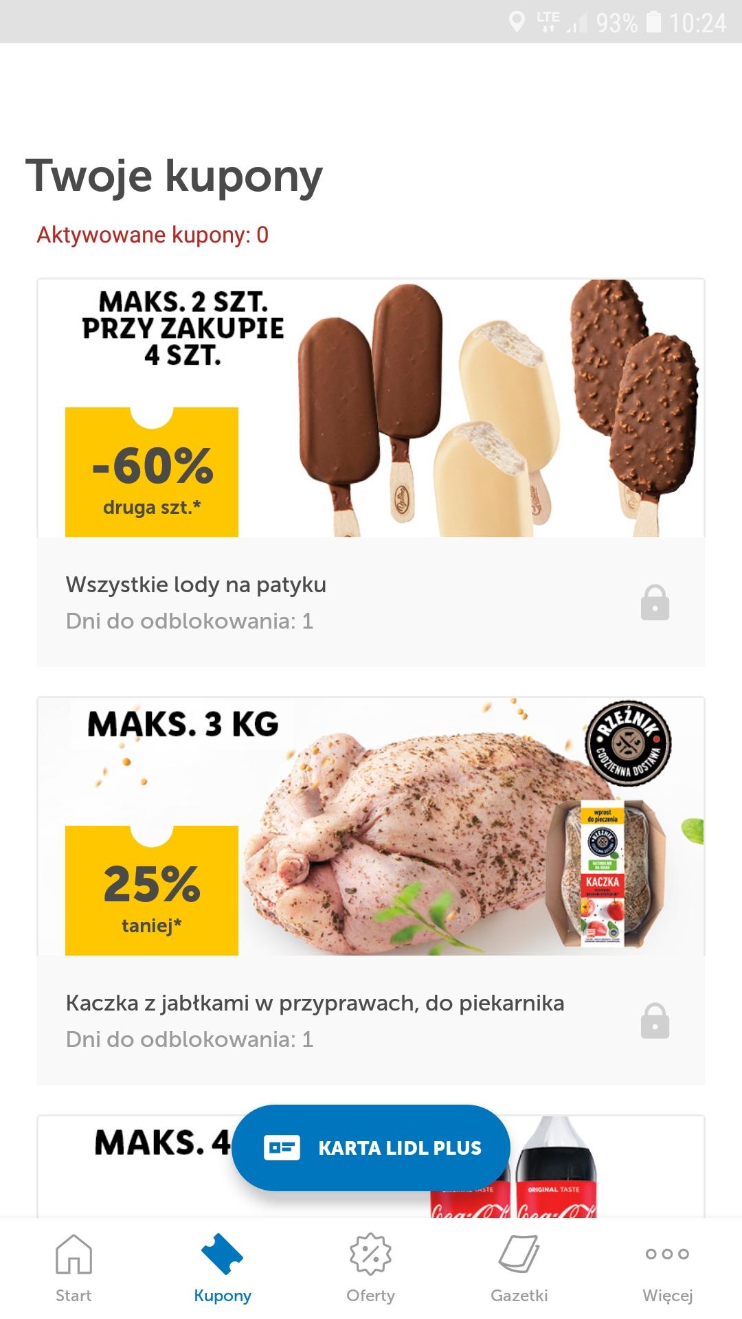 -60% na dwa lody na patyku, przy zakupie 4 sztuk [LIDL]