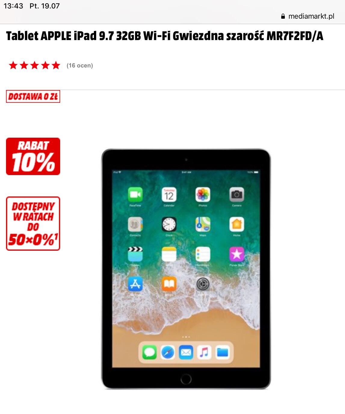 Apple iPad 6 generacji (2018) 9,7 32gb Wi-Fi