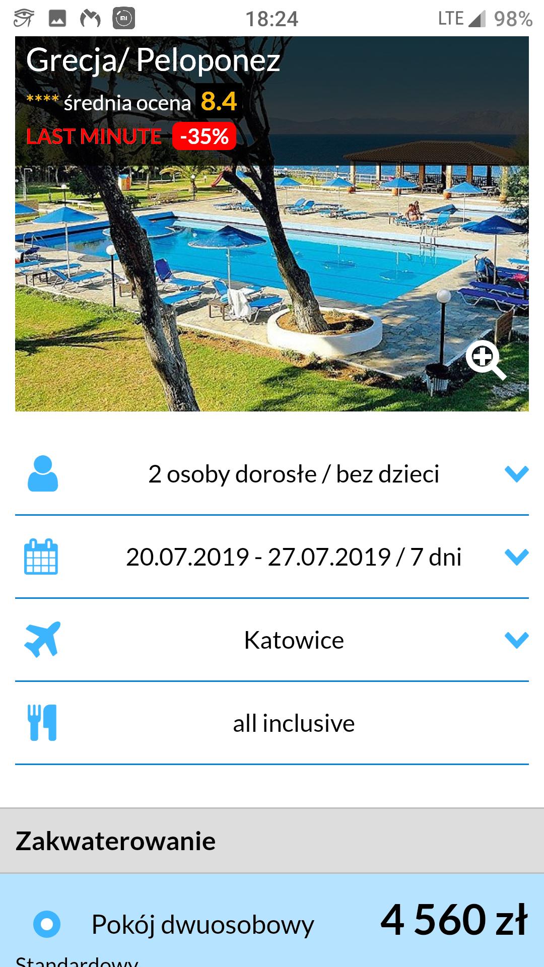 Wakacje Do Grecji all inclusive wylot 20.07.2019 2280zl za osobe