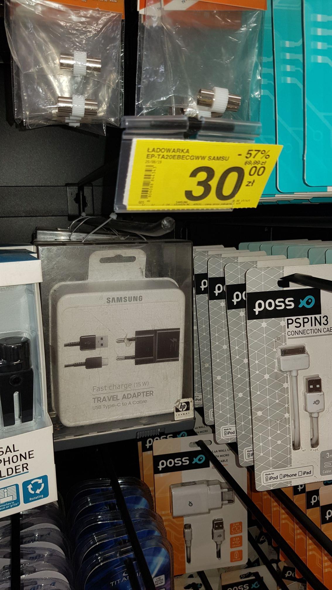 Ładowarka Samsung USB-C @ Carrefour Katowice