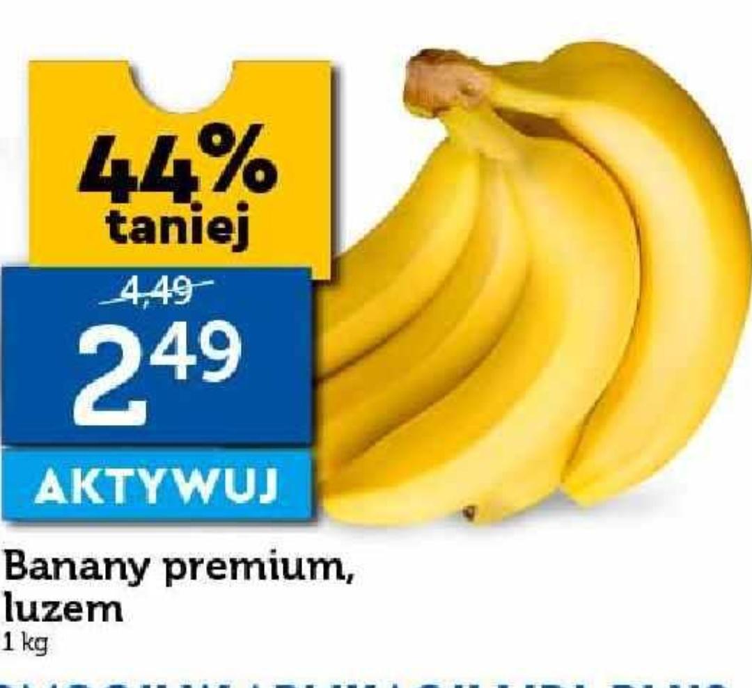 Banany w Lidlu po 2,49zł/kg. Lidl Plus od 22.07
