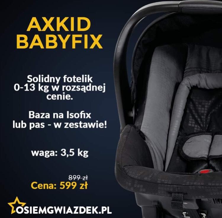 Fotelik Axkid babyfix z bazą isofix @ osiemgwiazdek.pl