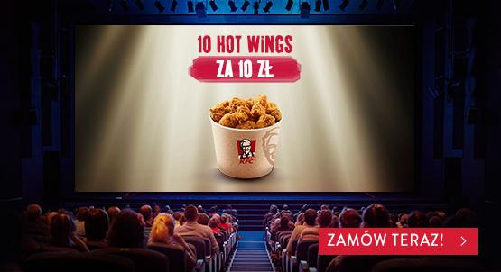 10 Hot Wingsów za 10 PLN w dostawie! Tylko dzisiaj @KFC