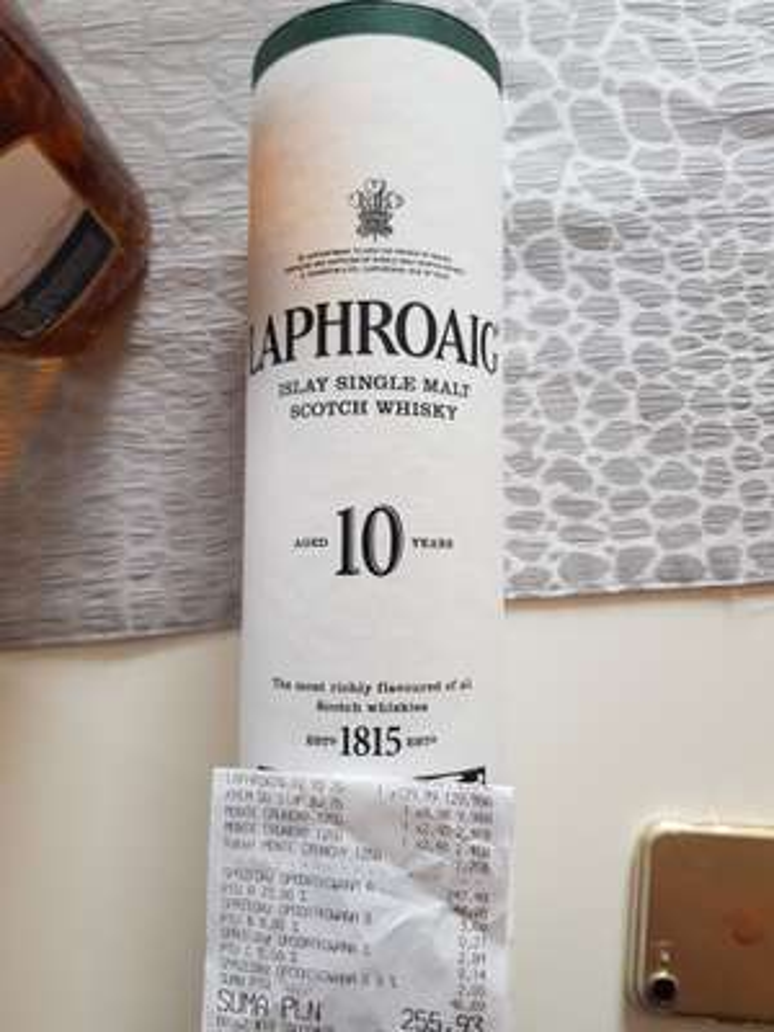 Laphroaig single malt whisky