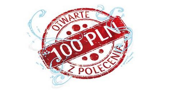 100 złotych  od PKO BP za założenie konta.