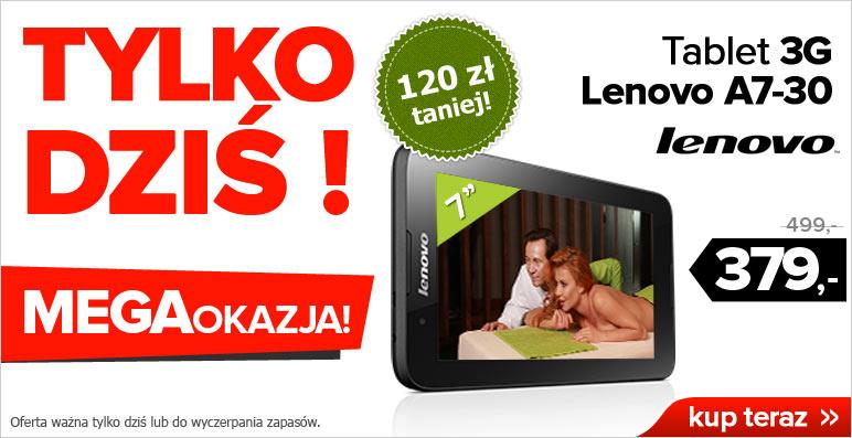 OFERTA DNIA! Tablet Lenovo A7-30 (A3300) 3G, GPS za 379 zł @ Agito