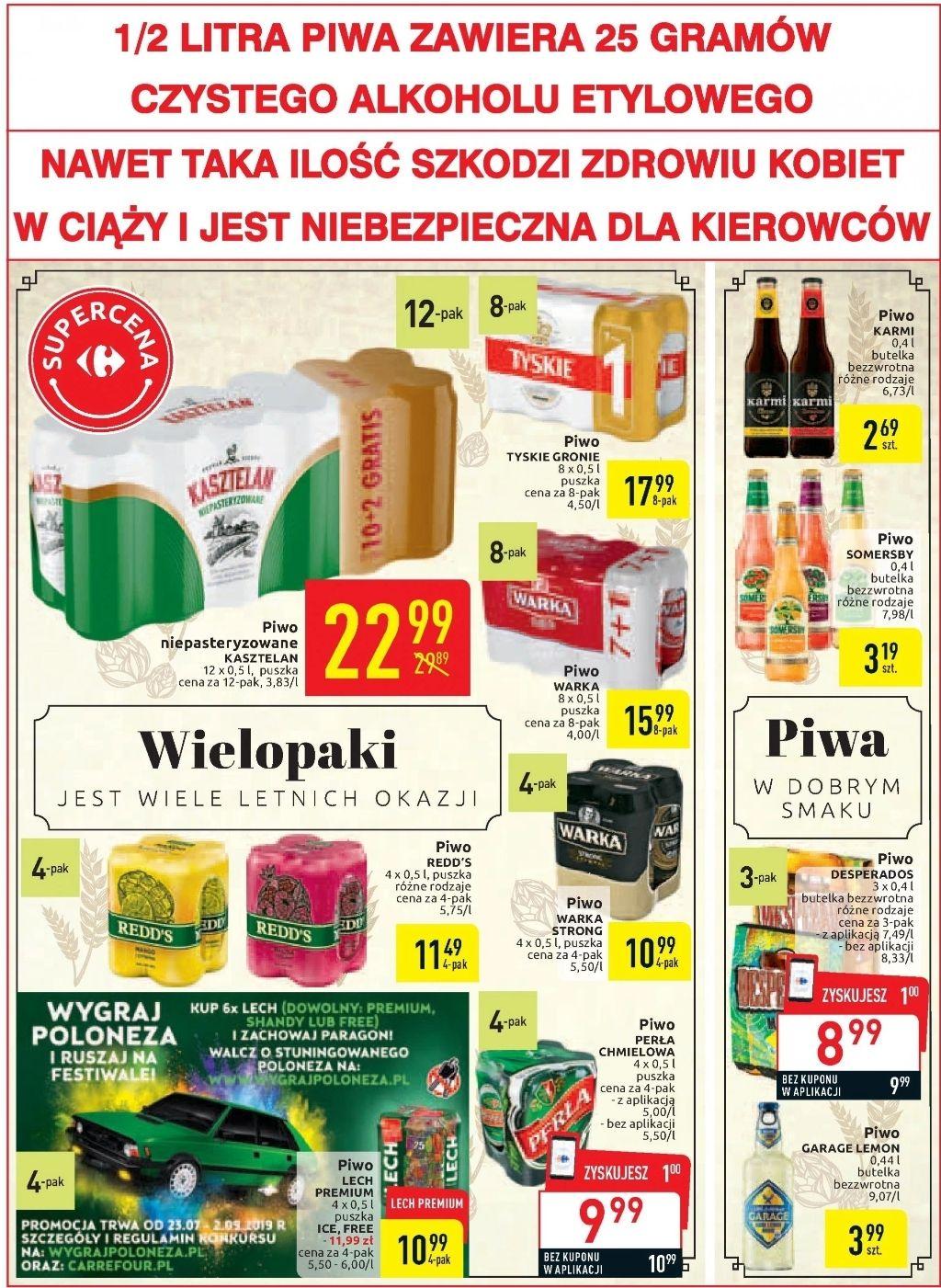 Promocja na piwo - Carrefour
