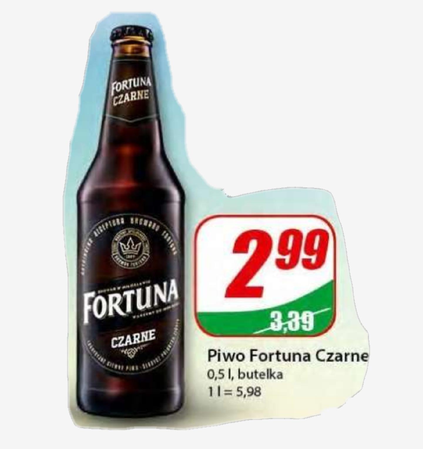 Piwo Fortuna Czarne / DINO / Możliwe 2,72zł