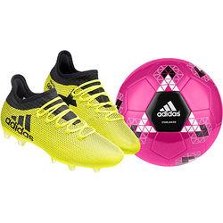 Zestaw: buty piłkarskie korki X 17.2 Techfit FG + piłka nożna Starlancer V 5 Adidas