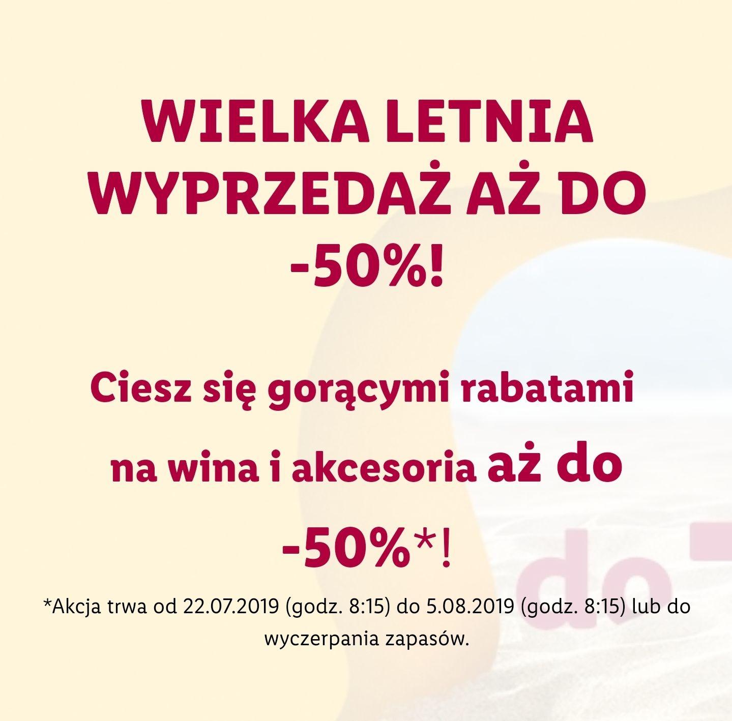 Winnica Lidla do minus 50%