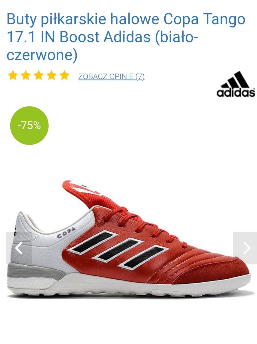 Buty piłkarskie halowe Copa Tango 17.1 IN Boost Adidas Tylko 45 1/3, 46