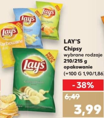 Chipsy / Czipsy Lay's 210/215g Kaufland