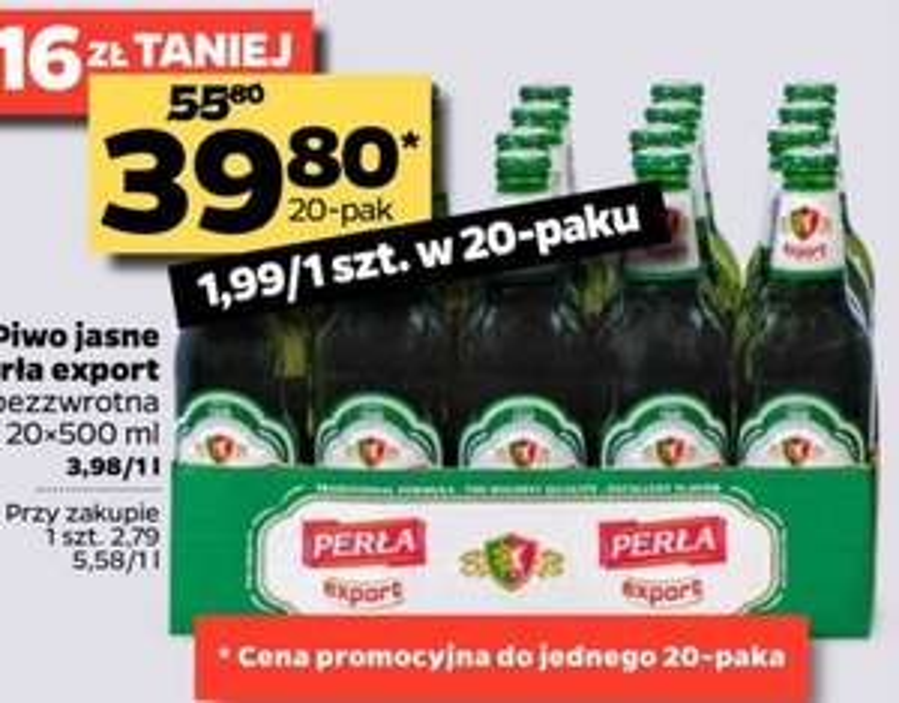 Piwo Perła Export 20x500ml @Netto