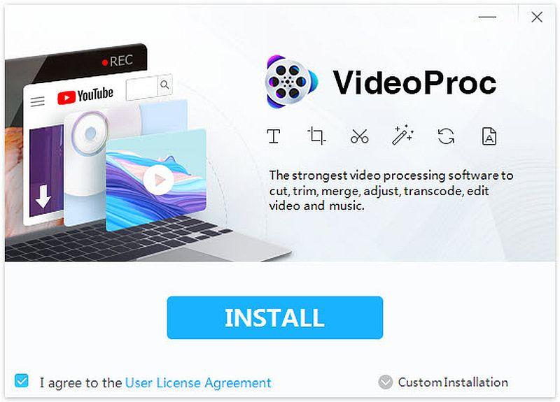VideoProc 3.3 - Darmowa licencja na edytor wideo