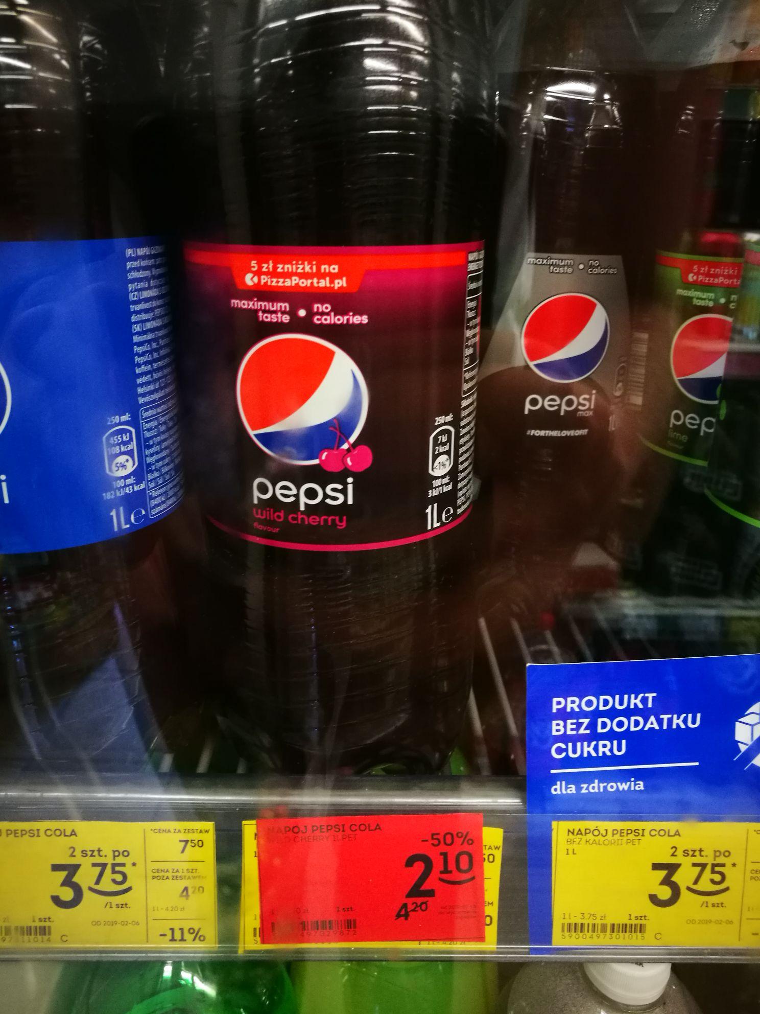 Żabka Wrocław Grota Roweckiego Pepsi Wild Cherry 1L -50% + wiele innych produktów w promocji