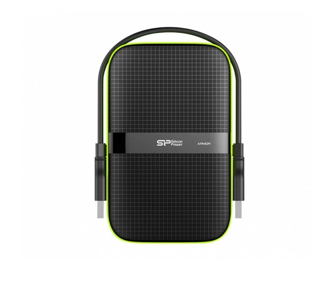 Silicon Power 1TB Armor A60 czarno-zielony USB 3.0