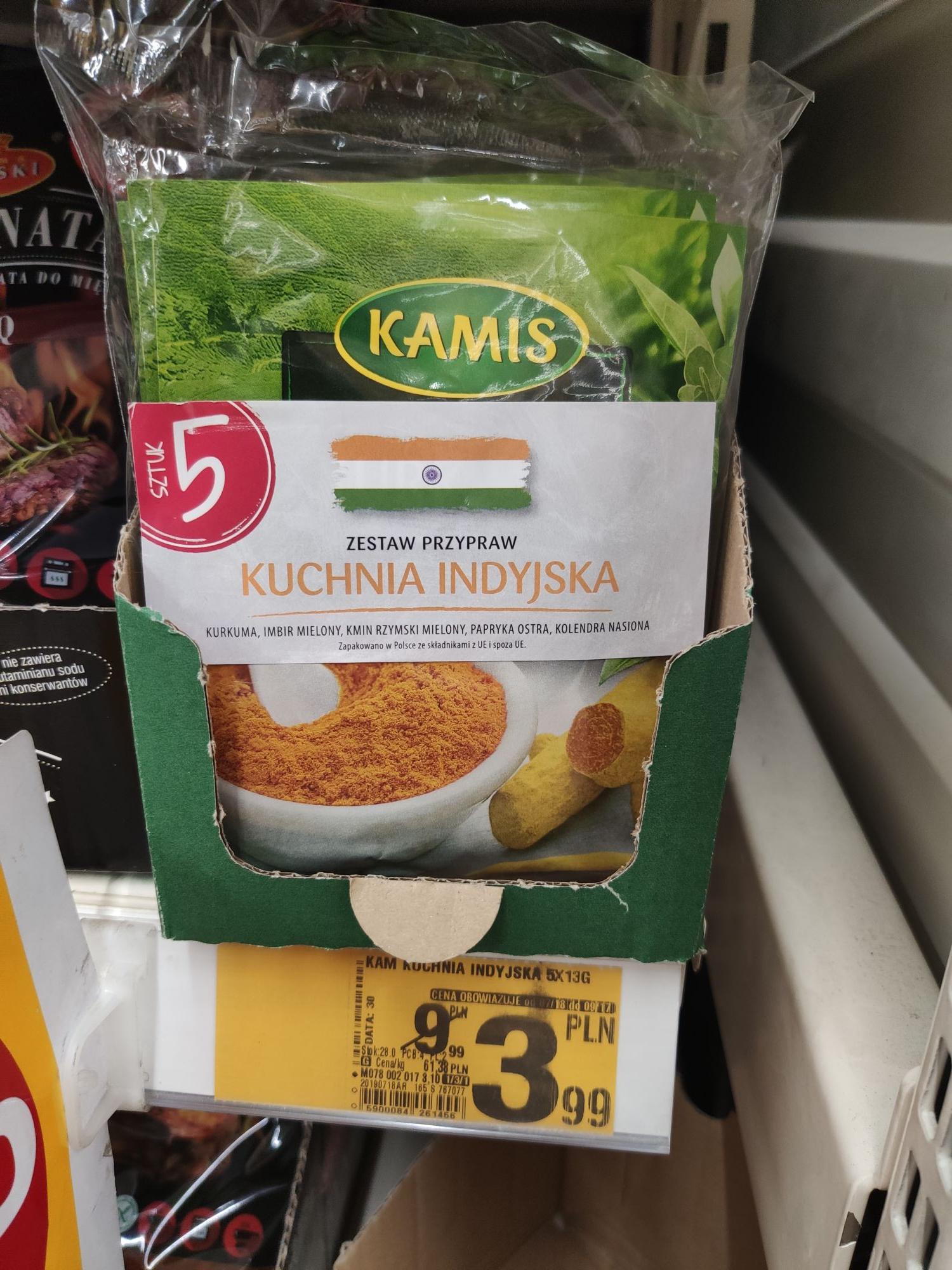 Wielopak przypraw Kamis Auchan - galeria Bronowice Kraków