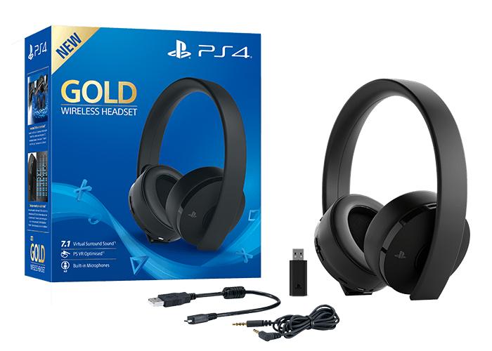 Słuchawki Sony Gold PS4 Wireless (9455165)