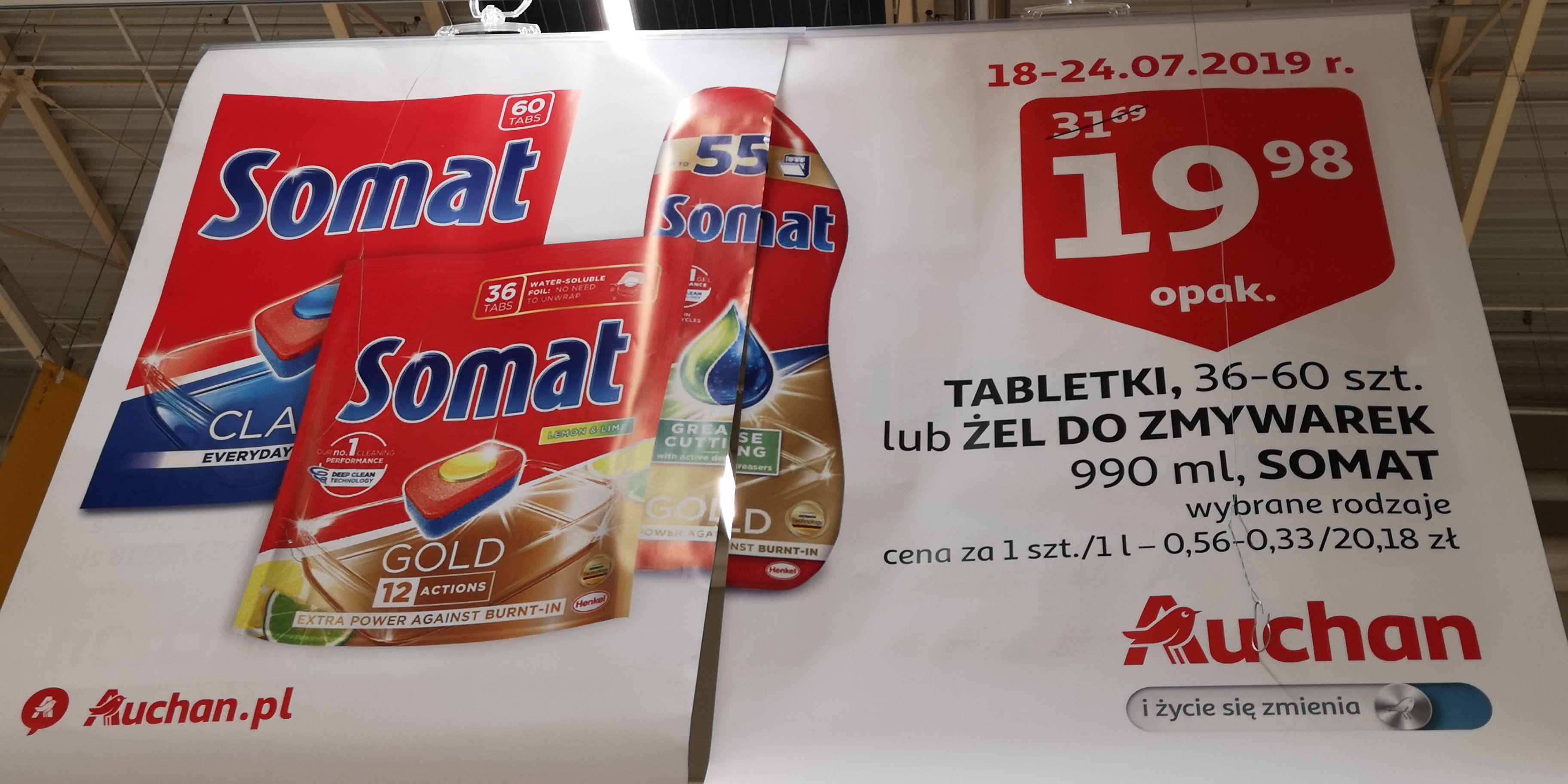 Tabletki i żel do zmywarki Somat GOLD Auchan Bydgoszcz Fordon