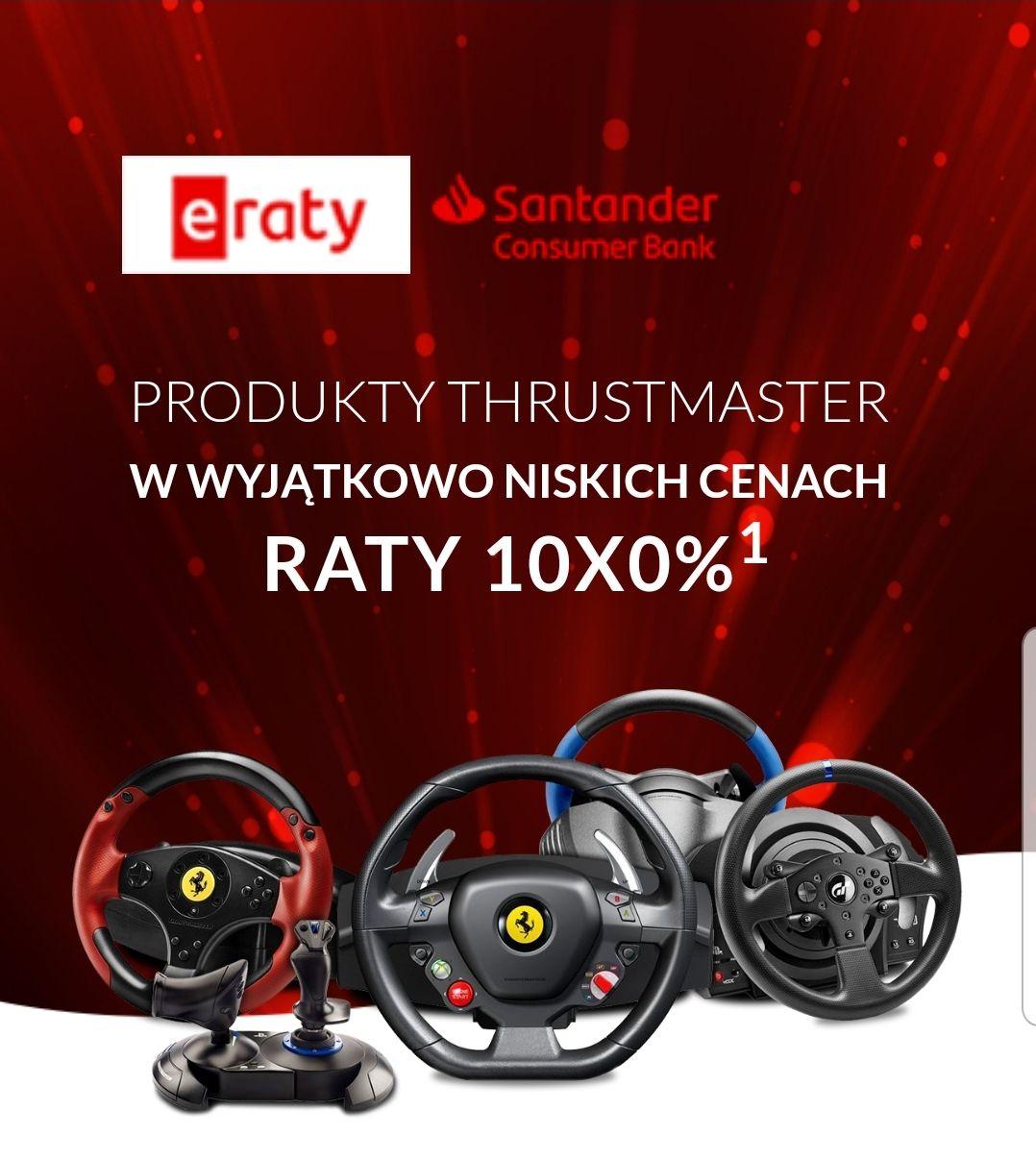Kierownice oraz Joysticki Thrustmaster w obnizonych cenach + raty 0%