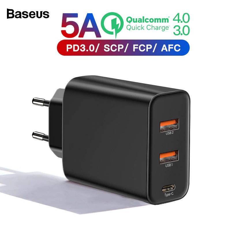 3 portowa ładowarka Baseus QC