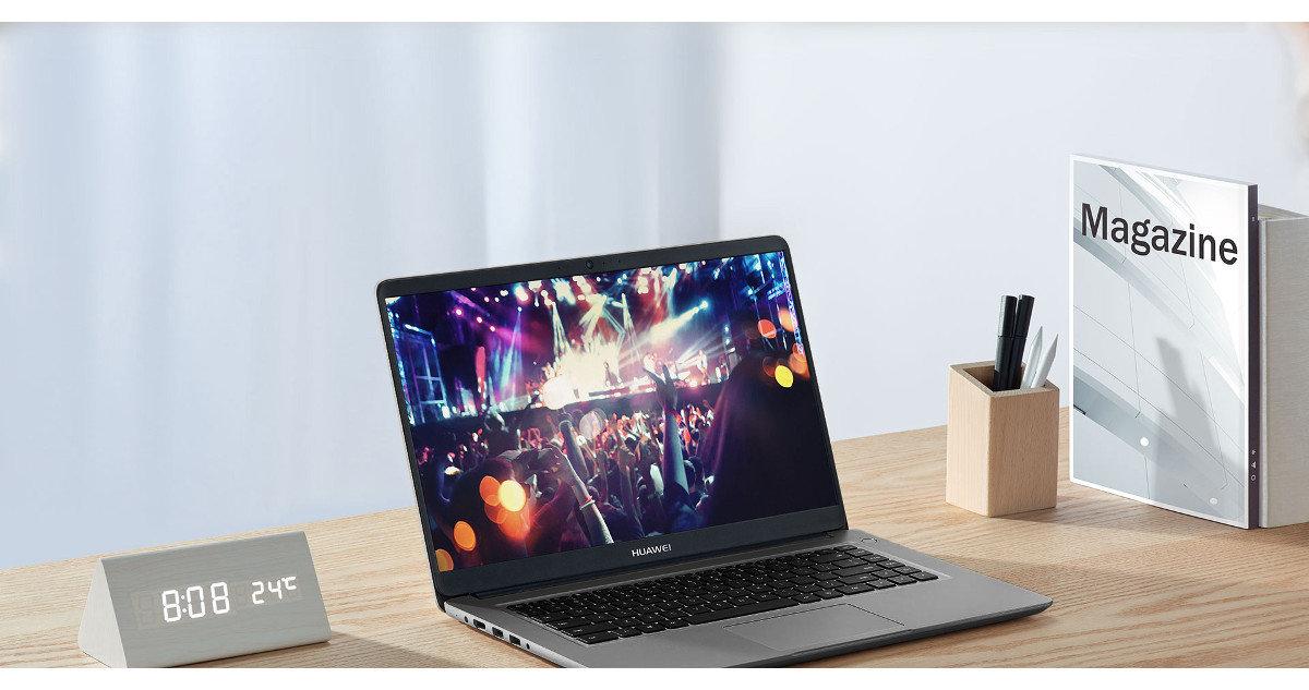 Ultrabook HUAWEI MateBook D 15.6 i5-8250U/8GB/256GB SSD/MX150/Win10H w MediaMarkt