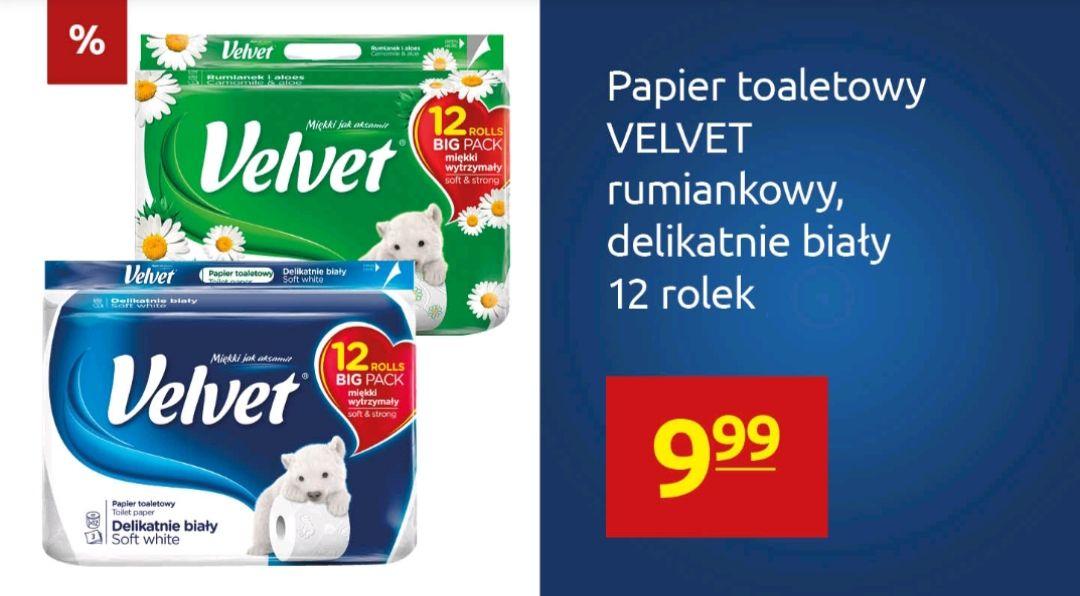 Papier VELVET 12 rolek - Carrefour