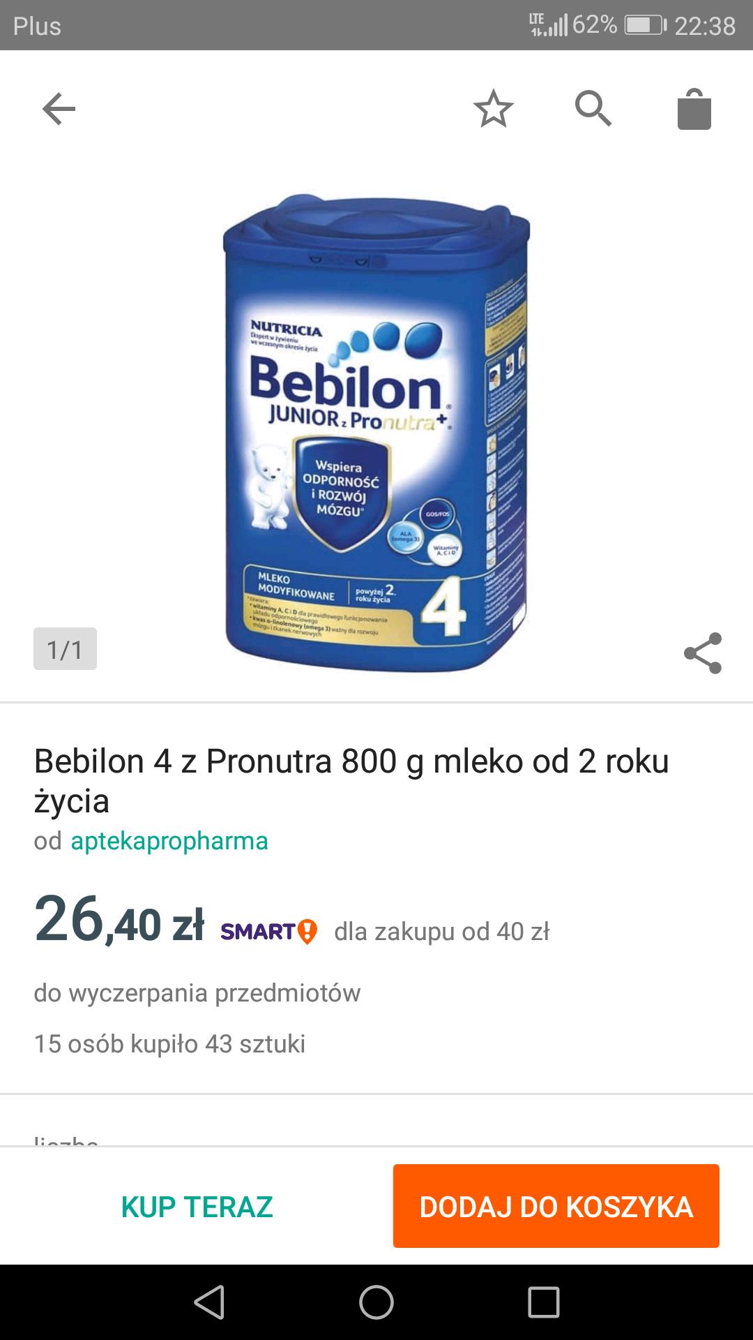 Bebilon 4 z Pronutra 800g