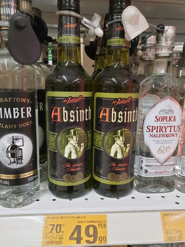 Promocja na whisky, absynt i brandy, Auchan Poznań - Swadzim,