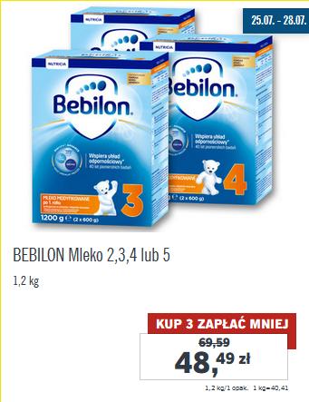 Mleko Bebilon 1200g za 48,49zł (przy zakupie trzech) @ Lidl