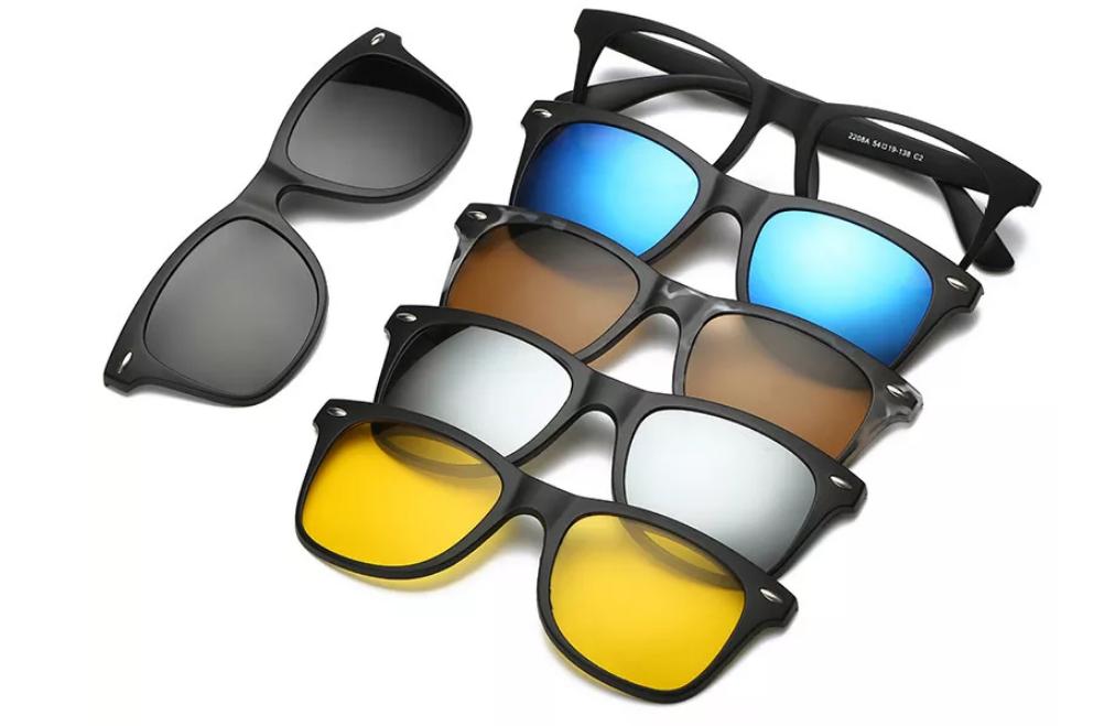 Okulary 5w1 TR-90 za $7.59 / ~29zł preorder