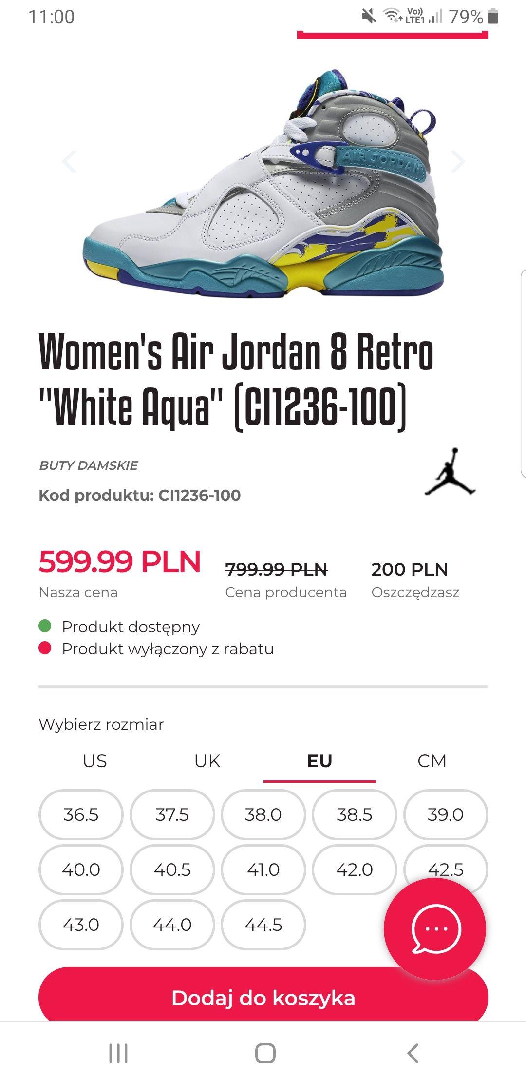 Women's Air Jordan 8 Retro