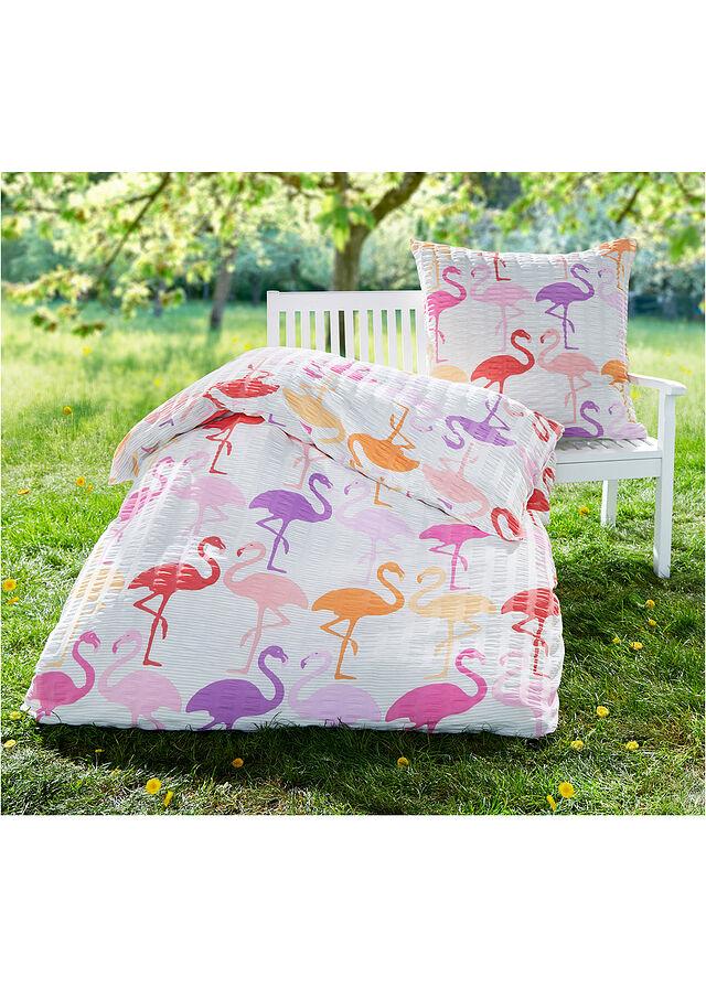 """Pościel """"Solveig"""" Kora w flamingi"""