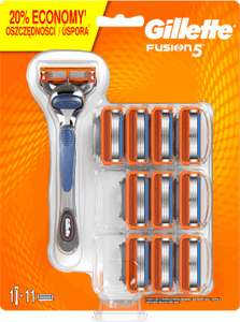 Gillette Fusion 11 nożyków + maszynka