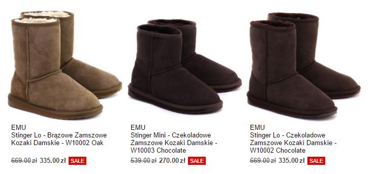 Emu Australia 50% taniej (dużo modeli!) @ Mivo