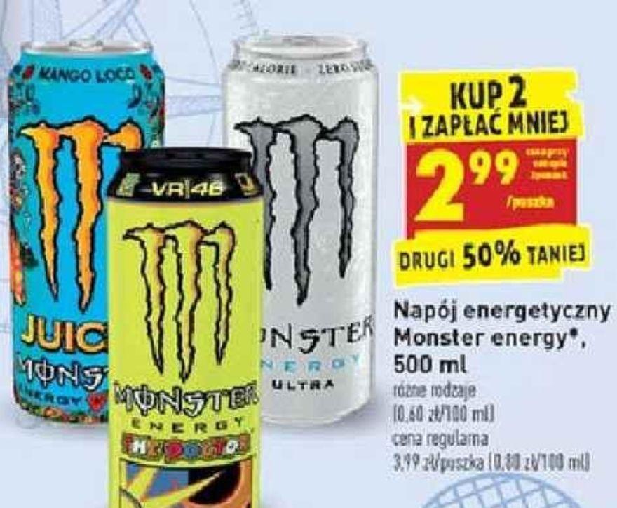 Monster za 2.99 przy zakupie 2szt, biedronka