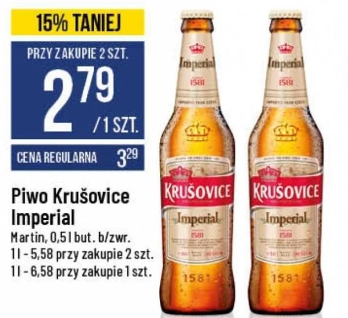 Piwo Krusovice Imperial 0,5L (Polo Market)